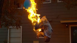 Fire-breathing Backflip with Steve-O - The Slow Mo Guys