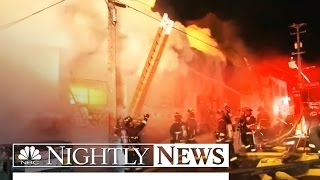 Exclusive Video Shows Inside Of Oakland Warehouse Before Deadly Fire | NBC Nightly News